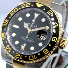 UNWORN ROLEX GMT MASTER ll 116713 STEEL GOLD CERAMIC