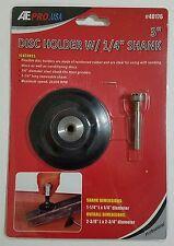 "3"" Flexible Rubber Disc Holder with 1/4"" Removable Shank Mandrel Sanding NEW"
