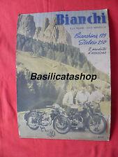 Cartello insegna Moto Bianchi Bianchina 125 Stelvio 250 ARTE LITO MILANO Pirelli