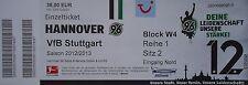 Ticket 2012/13 Hannover 96-vfb stuttgart