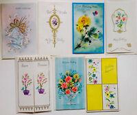 """Vintage Ephemera Unused Birthday Cards Set of 7 Lot """"C"""""""