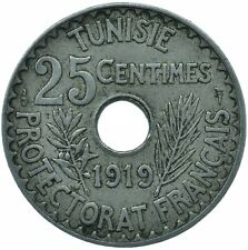 More details for coin / french tunisia / 25 centimes 1919    #wt24515