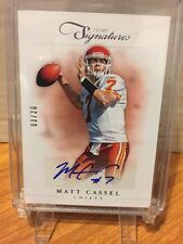 Matt Cassel 2012 Prime Signatures Silver Autograph Card #41 LTD #03/20