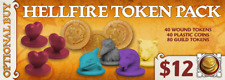 Arcadia Quest Hellfire token pack Kickstarterr exclusive CMoN