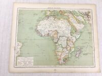1898 French Map of Continental Africa African Political 19th C Antique Original