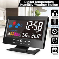 Projection Digital Alarm Clock Snooze Weather Thermometer LCD Display LED v np
