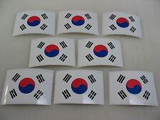 8 KOREAN FLAG Sticker Decal LOT 4 boat car Window Truck suv Wholesale KOREA