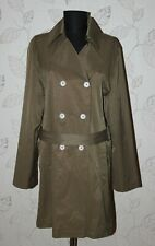 FRIEDA & FREDDIES New York womens brown trench coat jacket Size 40