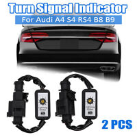 2 x Dynamic Turn Signal Indicator LED Tail light Module For Audi A4 S4 RS4 B8