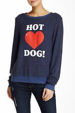WILDFOX Hot Dog Long Sleeve Pullover, Small S