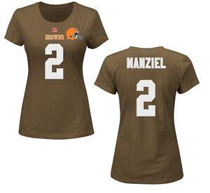 NFL Ladies Cleveland Browns Johnny Manziel Jersey Ladies Faircatch Jersey