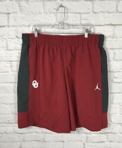 NEW Nike Jordan OU Sooners Red Football Shorts Size 3XL