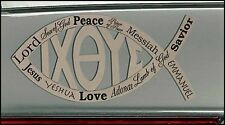 In Jesus Name Ichthus Fish Car Magnet 7.75 Inches  NEW SKU JT219