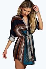 Paisley Regular Size Shirt Dresses