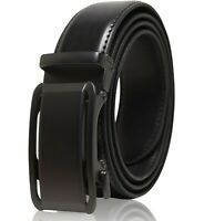 Genuine Leather Belt Mens Ratchet Belt With Adjustable Automatic Buckle