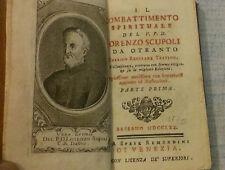 IL COMBATTIMENTO SPIRITUALE ORENZO SCUPOLI PARTE PRIMA - 1770 - Bassano