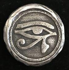 """1 Oz  MK BarZ  """"Egyptian Eye"""" Stamped .999 FS Round"""