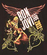 Bon Jovi Live 2011 Tour 2 Sided T-Shirt MEDIUM Rock Music