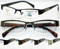 L395 Semi-Rimless Reading Glasses +50+75+100+125+150+200+225+250+275+300+350+400