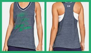 Under Armour ~ Notre Dame Fighting Irish Women's Iconic Neppy Tank Top $45 NWT