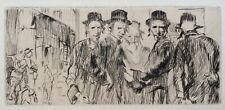 Frank William Brangwyn RA RWS RBA (1867-1956) Jewish men conversing