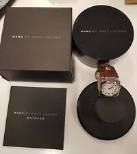 MARC BY MARC JACOBS LADIES SQUARE LEATHER STRAP WATCH MBM1110