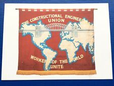 Postcard The Construction Engineers Union Workers of the World Unite