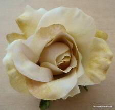 "3"" Veriegated Beige,Tan Rose Poly Silk Flower Hair Clip,Dance,Prom,Dance,Bridal"