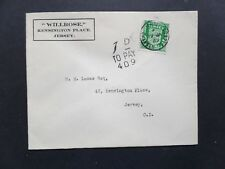 Jersey 1942 Coat of Arms 1/2d FDC with 1d To Pay 409 Tax due to only 1 stamp