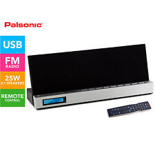 PALSONIC 2.1 USB SD RADIO MUSIC SYSTEM BUILT IN WOOFER iPAD iPHONE DOCK