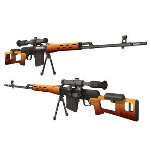 1:1 3D Paper Model DIY Dragunov Sniper Rifle SVD Gun Puzzle Military Cosplay Toy