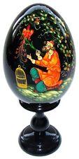 Oeuf decore en bois peint Oiseau de feu Oeuf decore Conte russe Oiseau de feu