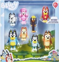 *GENUINE*  BLUEY 8 Pack figurine set inc. Rusty , Muffin Coco & snickers + more