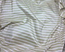 "Silk Taffeta Fabric - Golden Beige & White Stripe 54"" By The Yard"