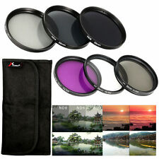 58mm UV CPL FLD ND Filter + Lens Hood Cap for Canon Rebel T5i T4i T3i T3 LF134