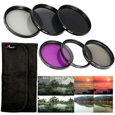58mm UV CPL FLD ND Filter + Lens Hood Cap for Canon Rebel T5i T4i T3i T3 LF134