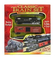 Classic Battery Operated Train Toy With 3.5mTracks Light Engine Children Kids