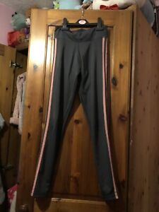 Addidas Grey And Pink Sports Leggins Size 4-6