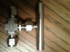 Flolok Needle Valve 118-316 1/4 TX x 1/4 T with TBAR HANDLE