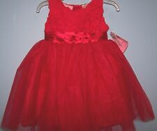 NEW BLUEBERI BOULEVARD INFANT DRESS RED  TUTU  PAGEANT HOLIDAY SIZE 12 MONTHS