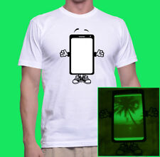 Million shirts in 1 Glow T-shirt Draw with Cellphone ,S