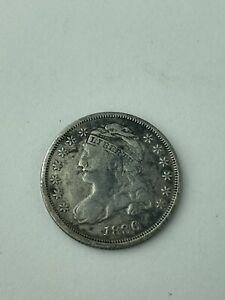 1836 Capped Bust Silver Half Dime - 10C -