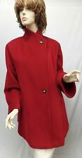 MAX MARA NWOT Burgundy Red Wool Button Up Pocket Collar Coat SZ 2 4