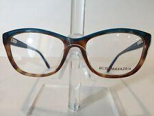 BCBG Maxazria Justine Women's Plastic Eyeglass Frame-Tortoise Blue Teal 53-17