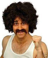 118 118 fancy dress moustache & black wig afro new