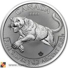 CANADA 5 Dollars 2016 Serie Puma Di Predatori 1 Oncia d'argento (S//C)