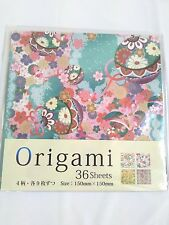 Japanese Origami paper Kimono pattern made in Japan 36 sheeets F/S