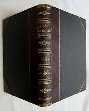 Antique 1886 Bound MASONIC CHRONICLE Fraternal Periodical FREEMASONRY Occult