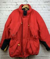 Vintage Marlboro Country Store Duck Down Coat Red Winter Jacket Mens Size XL