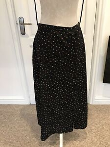Topshop Womens Skirt coloured Spotted Midi size 12